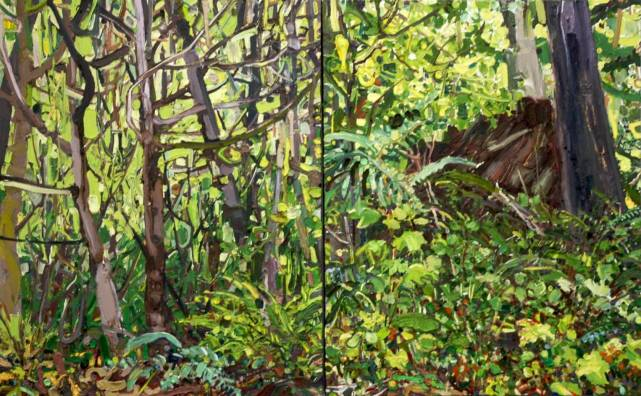 WA30x48GreensOnGreensDiptych copy 2